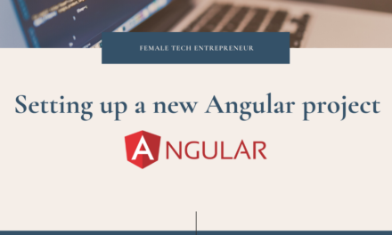 Setting up a new Angular project